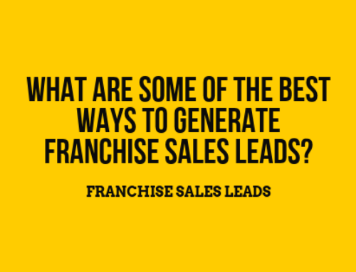 Franchise Sales Leads