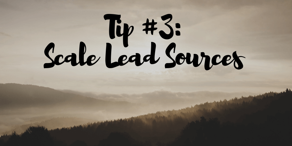 Scale Lead Sources